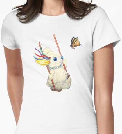 Pooky Swinging with a Butterfly Womens Fitted T-Shirt