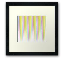 Pastel Retro Triangle Trim Framed Print