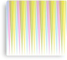 Pastel Retro Triangle Trim Canvas Print