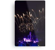 Fireworks at Disneyland Metal Print