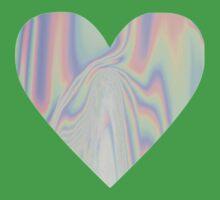 Shiny Rainbow Heart Kids Clothes