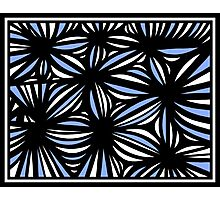 Stauble Abstract Expression Blue White Photographic Print