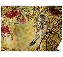 """""""Fieldfare"""" - Oil Painting Poster"""