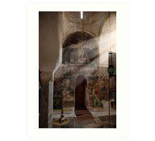 Greek Orthodox church interior Art Print