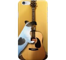 STRUMMING THE WAY MY HEART FEELS FOR U..CANINE STRUMMING GUITAR PICTURE AND OR CARD iPhone Case/Skin