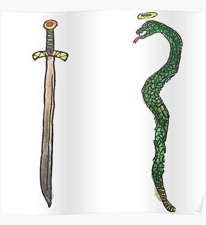 Sword & Snake Poster