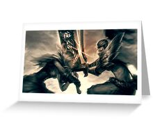 Riven against Yasuo -League of Legends Greeting Card