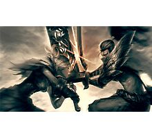 Riven against Yasuo -League of Legends Photographic Print