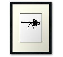 Sniper Rifle Silhouette Framed Print