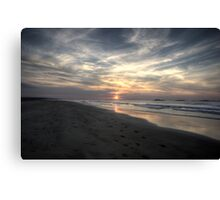 White Rocks Beach - Dusk - Portrush, Co. Antrim Canvas Print