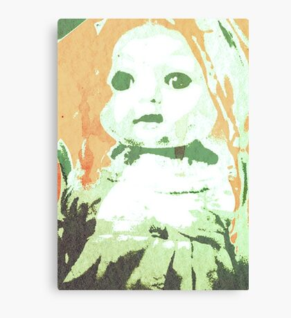 Scary Doll Screenprint #3 Canvas Print