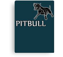 young pitbull Canvas Print
