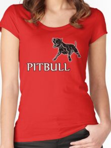 young pitbull Women's Fitted Scoop T-Shirt