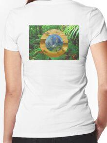 Landscapes Women's Fitted V-Neck T-Shirt