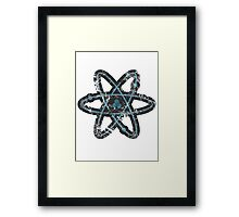 Distressed Atom Framed Print