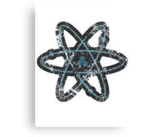 Distressed Atom Canvas Print
