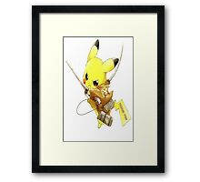 Pikachu Attack on Titan Framed Print