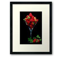 Strawberry Juice Framed Print