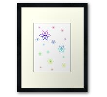 Rainbow Atoms Framed Print