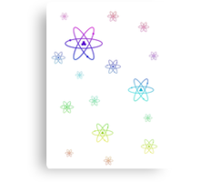 Rainbow Atoms Canvas Print