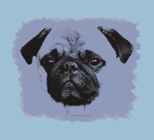 mops puppy baby blue by fuxart