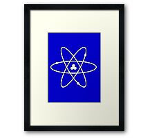 Atom White Framed Print