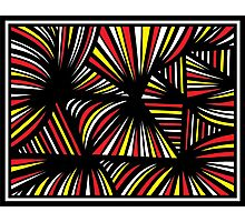 Pouliotte Abstract Expression Yellow Red Blue Photographic Print