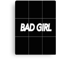 bad girl Canvas Print