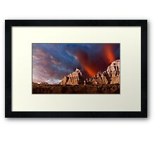 Sunrise over Badlands Window Trail .3 Framed Print
