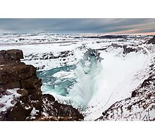 Gullfoss in Winter Photographic Print