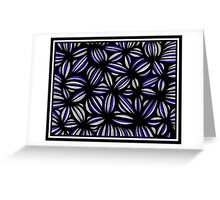 Senko Abstract Expression Blue White Greeting Card