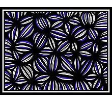Senko Abstract Expression Blue White Photographic Print
