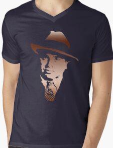 al capone portrait Mens V-Neck T-Shirt