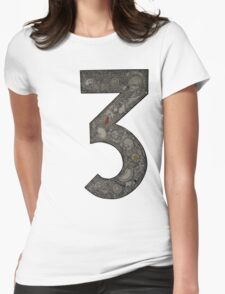 Number 3 Womens Fitted T-Shirt