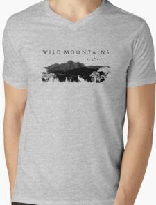 Wild Mountains Mens V-Neck T-Shirt