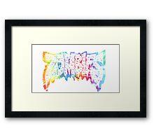 Flatbush Zombies Tie Dye Framed Print