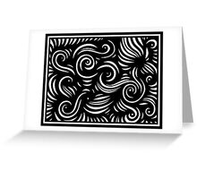 Comrie Abstract Expression Black and White Greeting Card