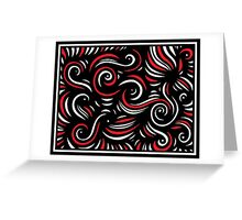 Kaup Abstract Expression Red White Black Greeting Card
