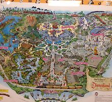 Vintage Disney Vintage Disneyland 1955 MAP by notheothereye