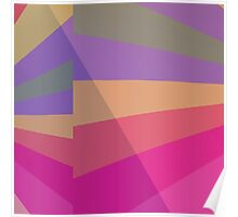 Colorful Angles Poster