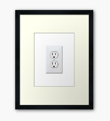 There's never an outlet where you need one. Framed Print