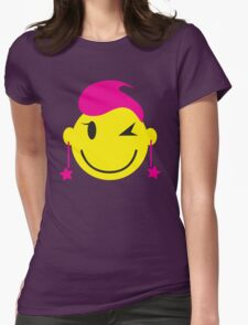 Cute pink happy SMILEY with starry earrings T-Shirt