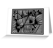 Norred Abstract Expression Black and White Greeting Card