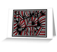 Murrieta Abstract Expression Red White Black Greeting Card