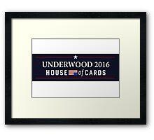 House of Cards - Frank Underwood 2016 Framed Print