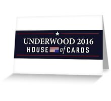 House of Cards - Frank Underwood 2016 Greeting Card