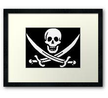 John Rackham Pirate Flag Framed Print