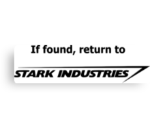 If found, return to Stark Industries Canvas Print