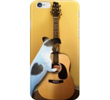 STRUMMING THE WAY MY HEART FEELS FOR U..CANINE STRUMMING GUITAR PILLOW AND OR TOTE BAG ECT.. iPhone Case/Skin