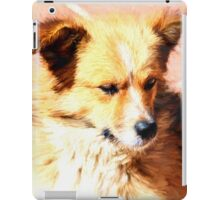 Pooch on the patio iPad Case/Skin